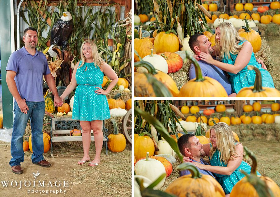 Save the Date Photo with Pumpkins