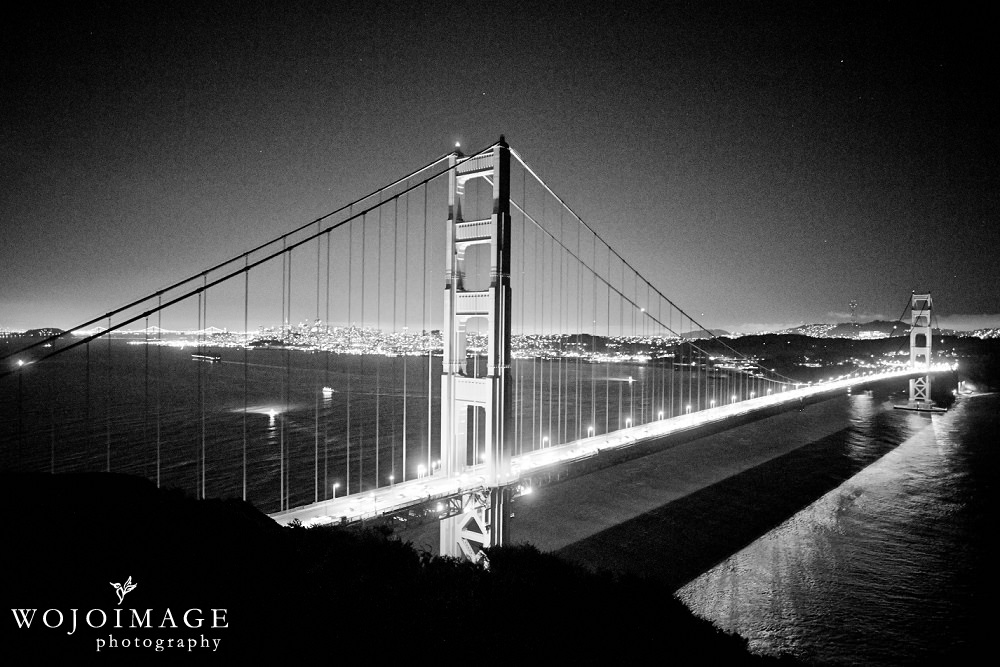 Golden Gate Bridge Hawk Hill at Night