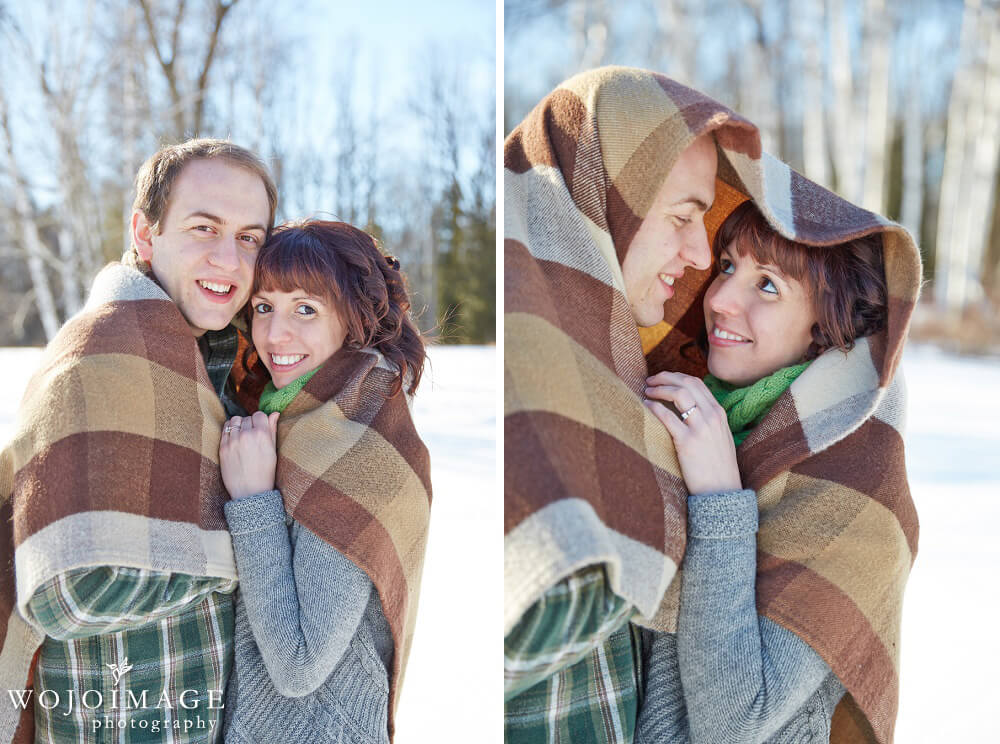 Harrington Beach State Park Winter Engagement Session
