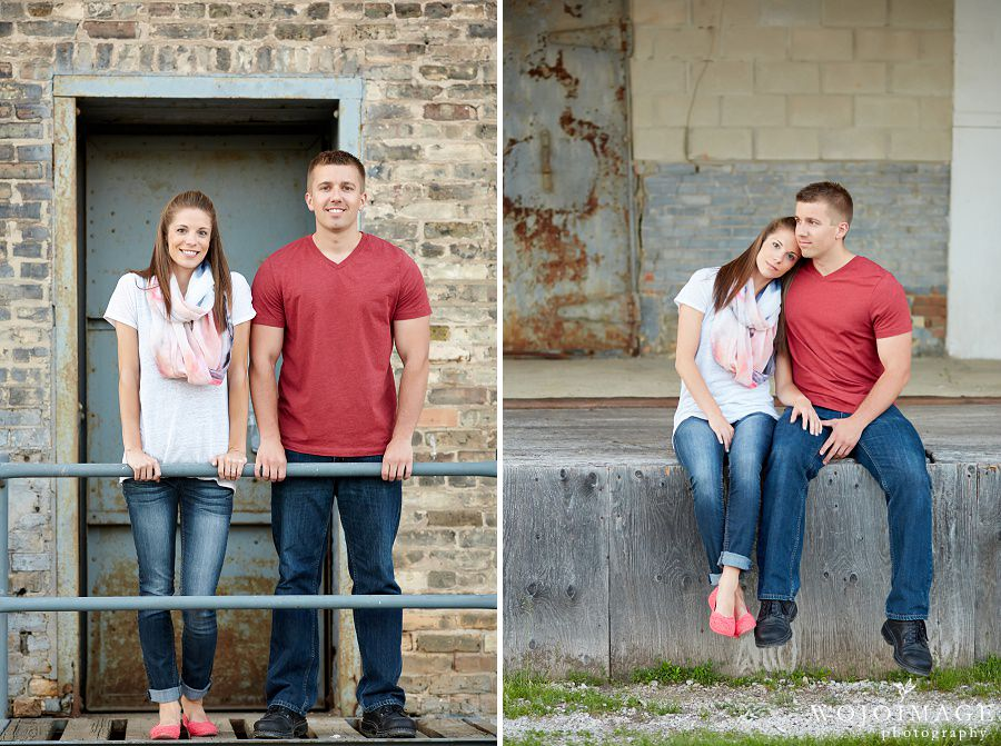 Downtown Milwaukee Rustic Engagement Photos