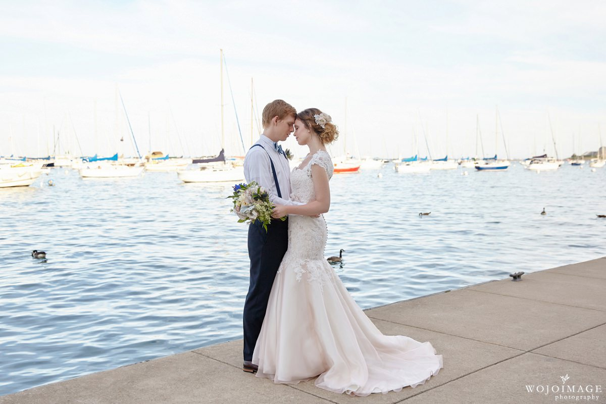 Nautical Theme Chicago Lakeside Elopement Photographer