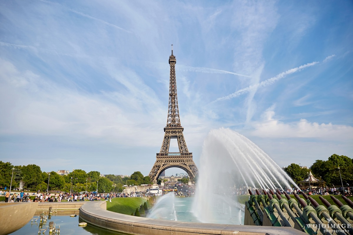 Eiffel Tower with a Fountain