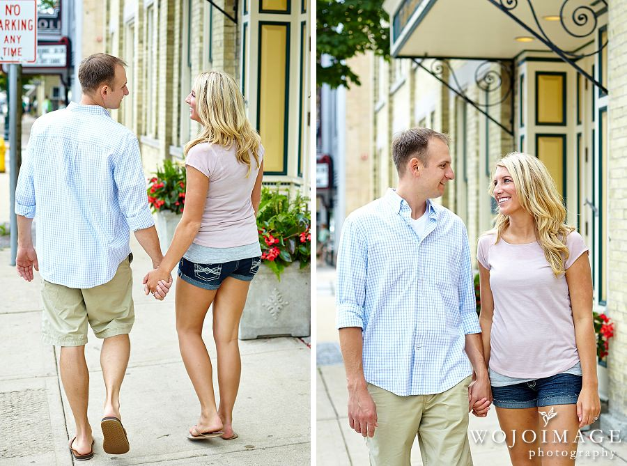 Downtown Cedarburg Engagement Photos