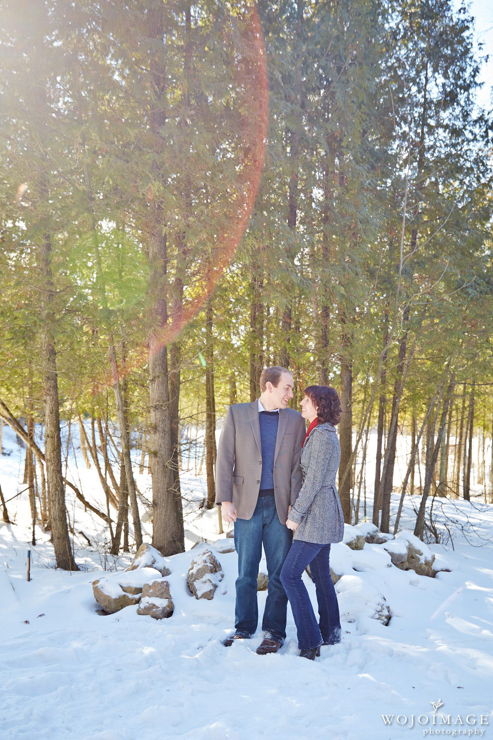 Engagement Photo With Sun Flare