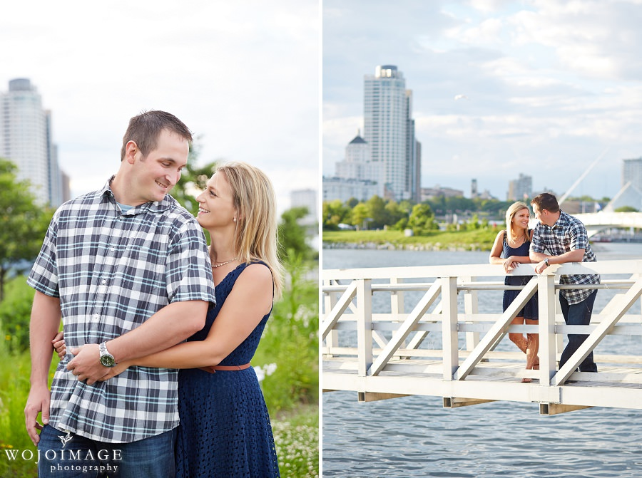 Lakeshore State Park Milwaukee Engagement Photos