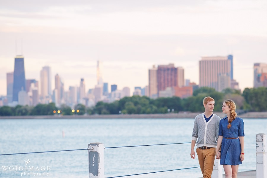 Champagne and Sail Chicago Styled Engagement Shoot