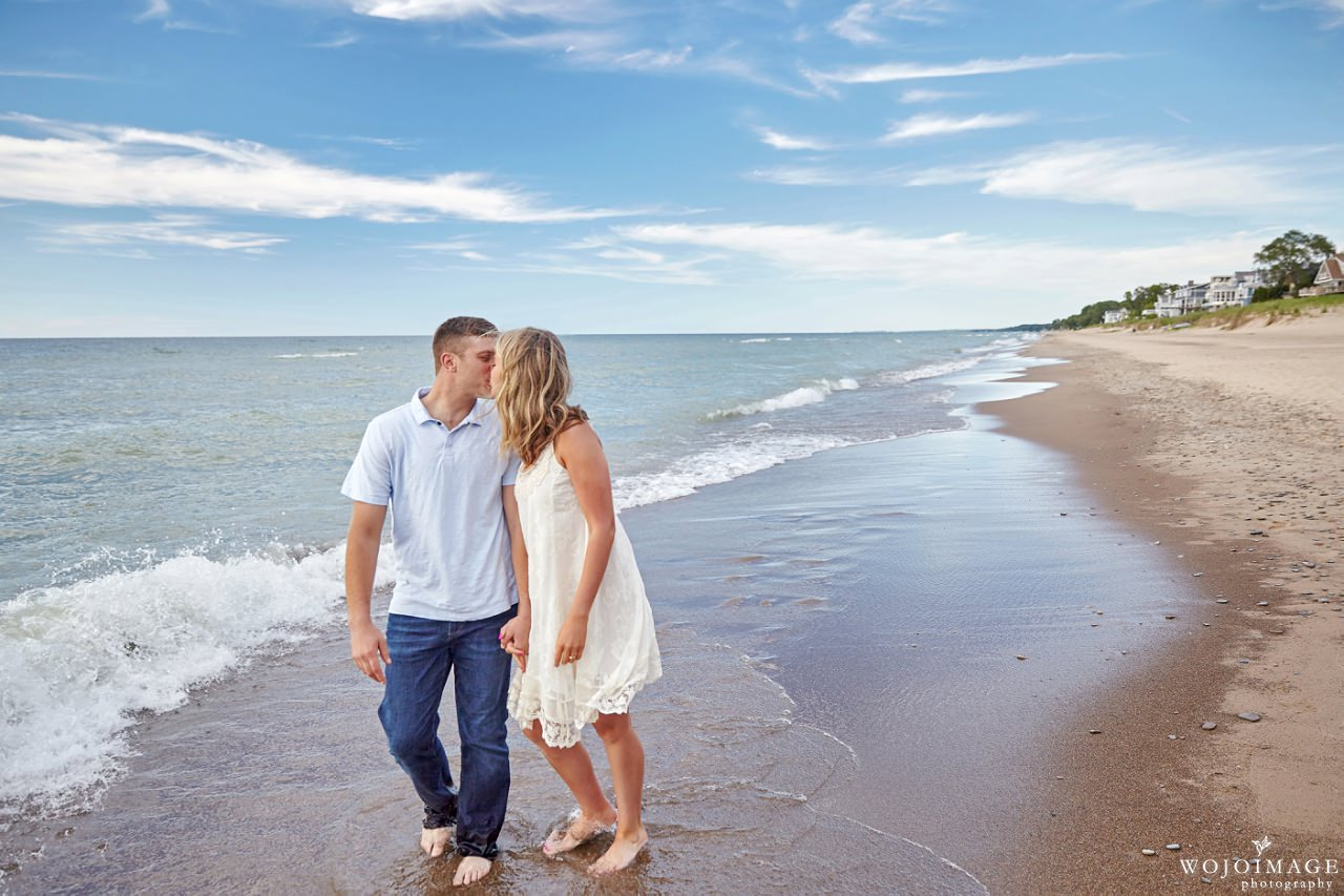 Lake Michigan Indiana Engagement Session