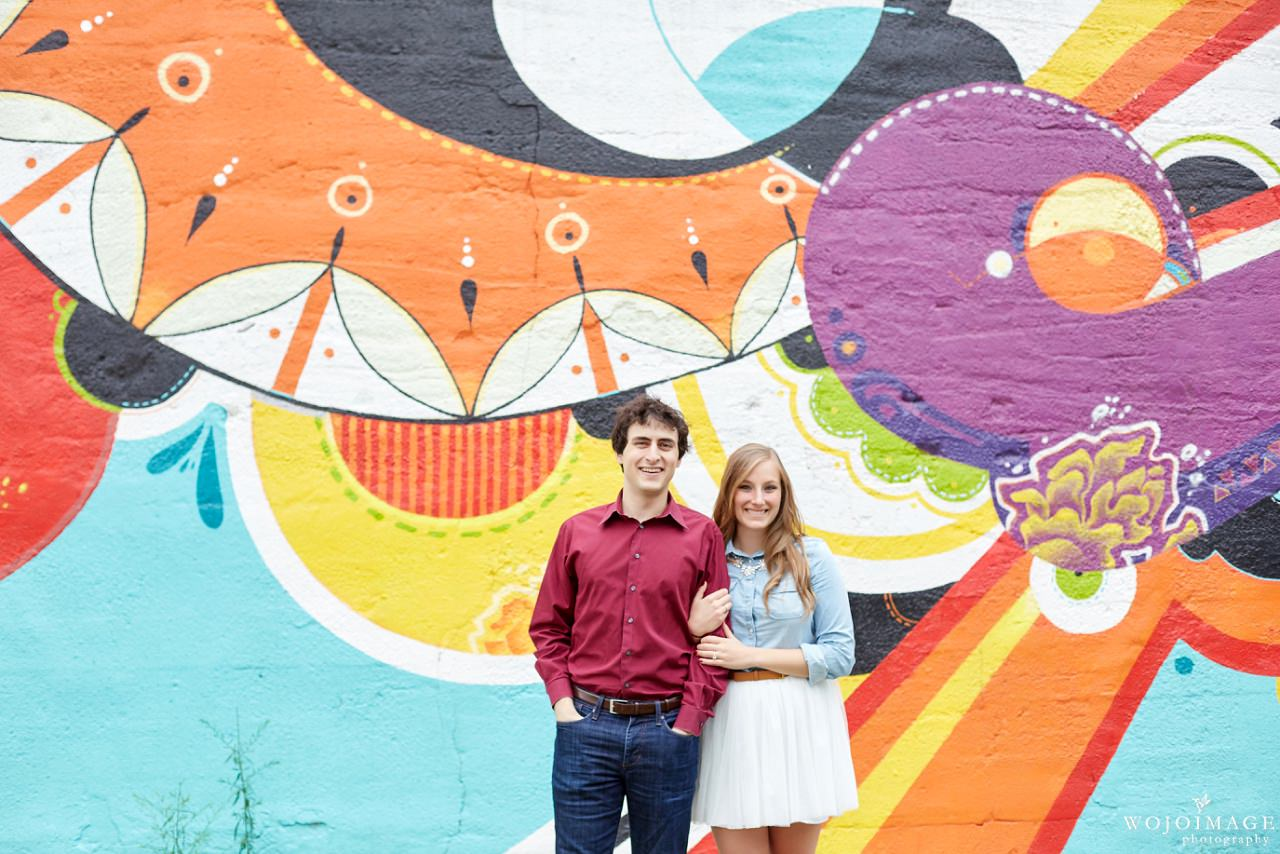 Chicago Graffiti Wall Engagement Session