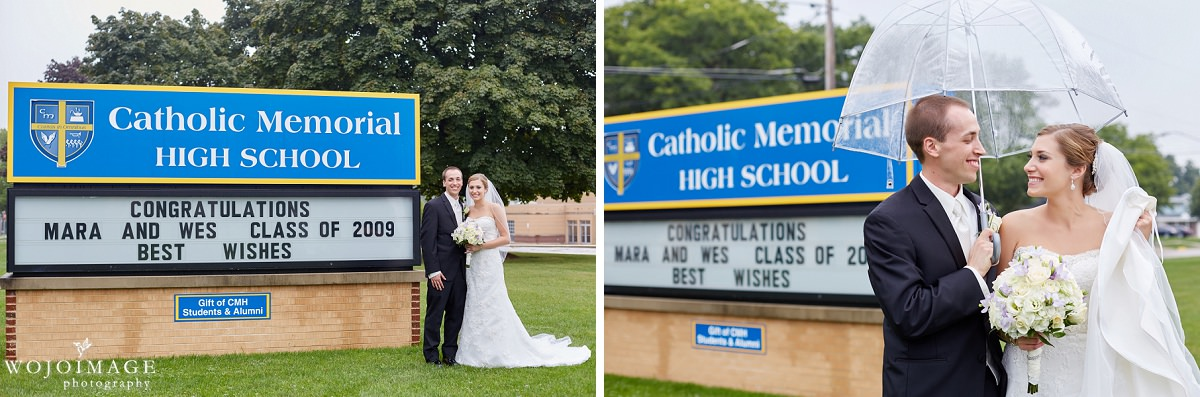Catholic Memorial High School Wedding Photos Waukesha