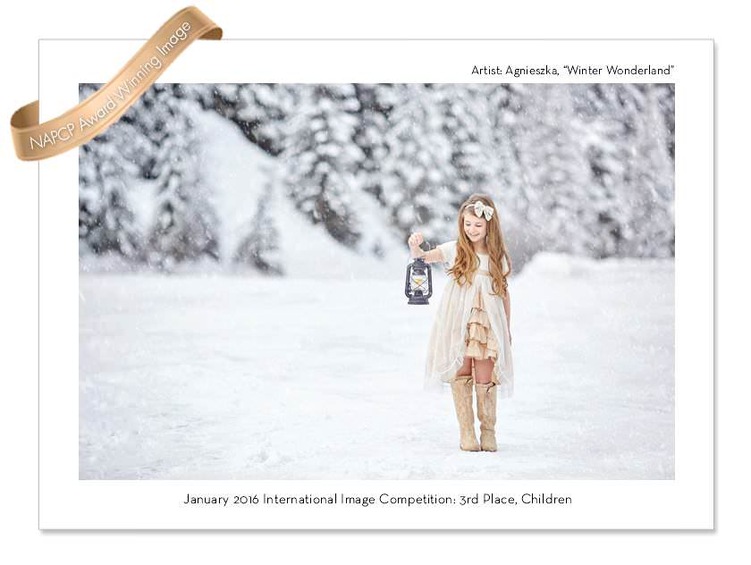 AWARD WINNER IMAGE OF A GIRL STANDING IN THE SNOW