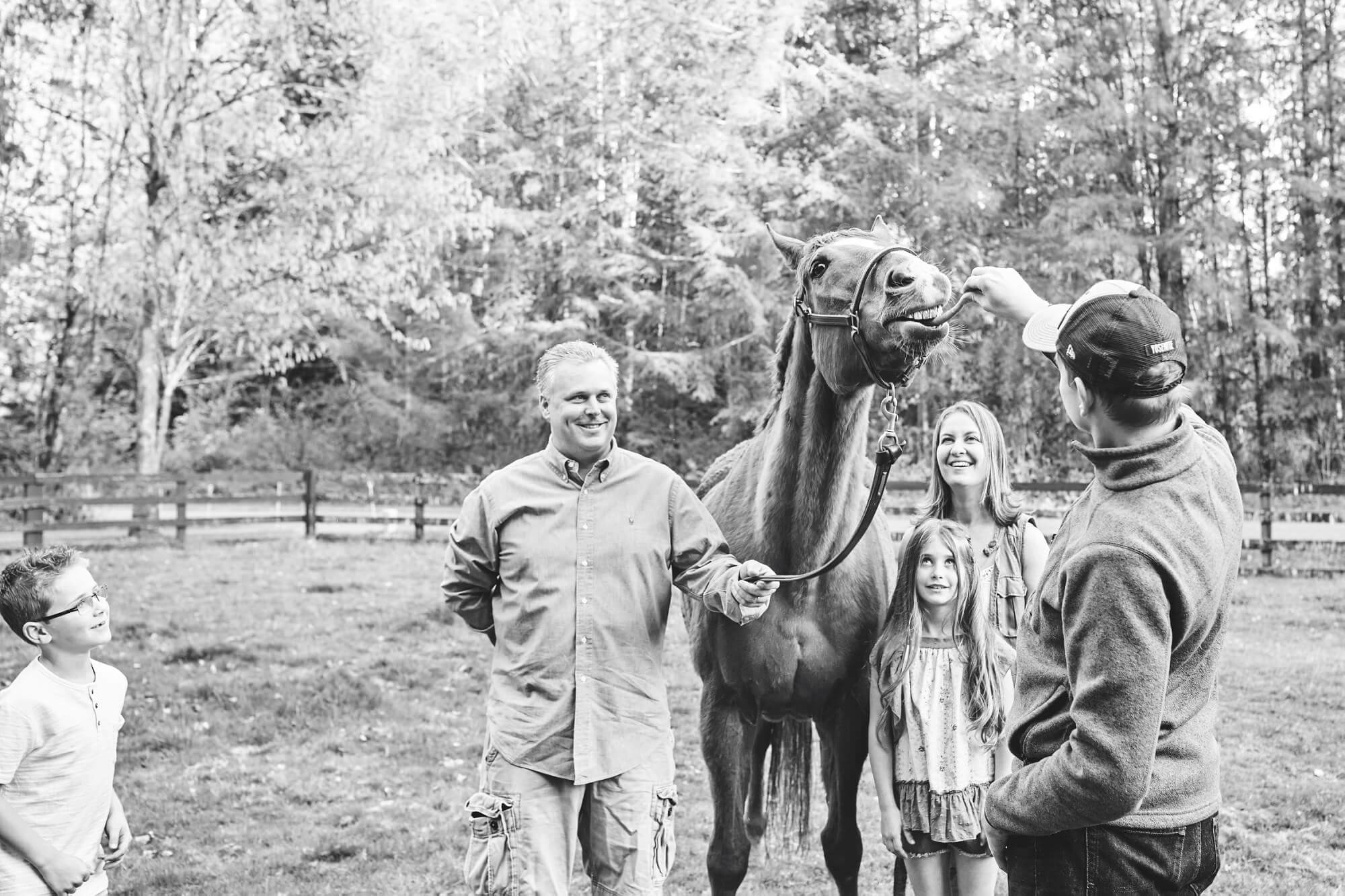 Seattle Documentary Family Lifestyle Photography With A Horse