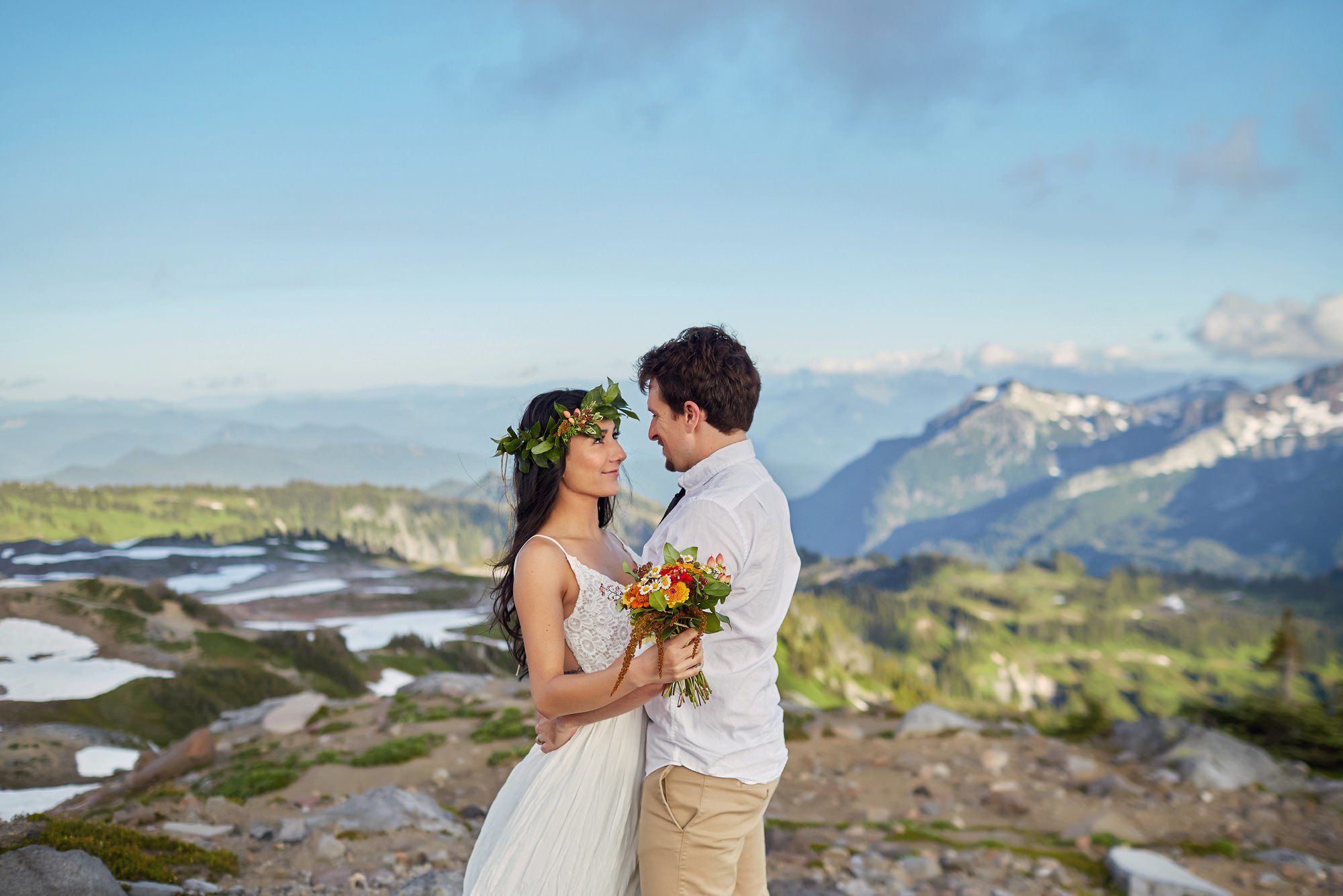 Mount Rainier Elopement Photographyy