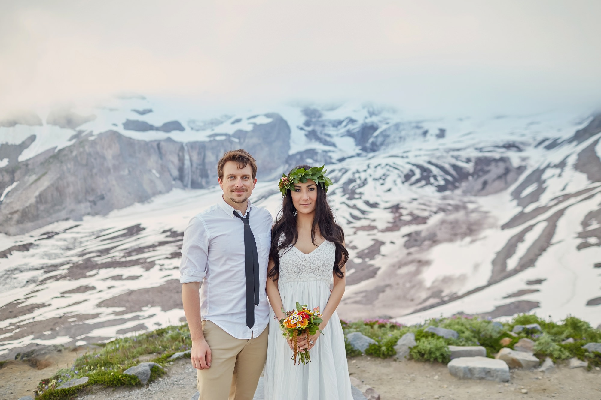 Mount Rainier Elopement Photo Shoot