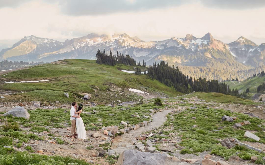 Amy and Justin-Mount Rainier Anniversary Session
