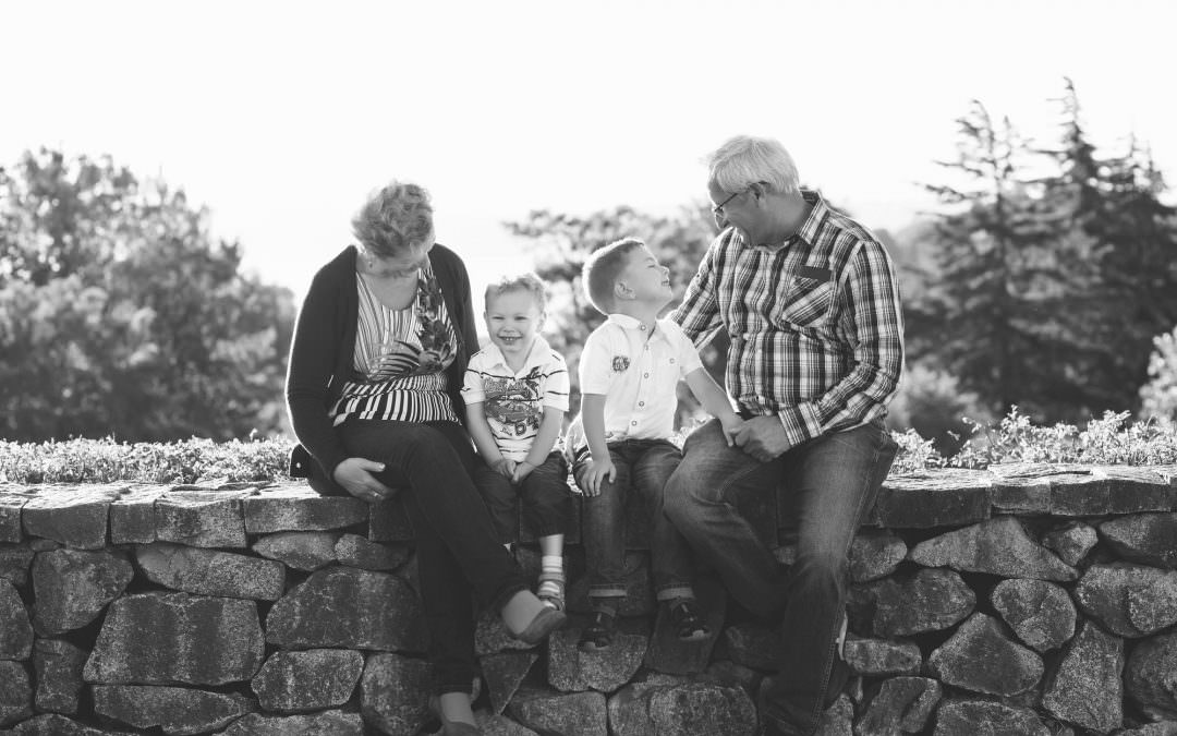 Antek, Alex and Their Grandparents-Seattle Family Lifestyle Photography