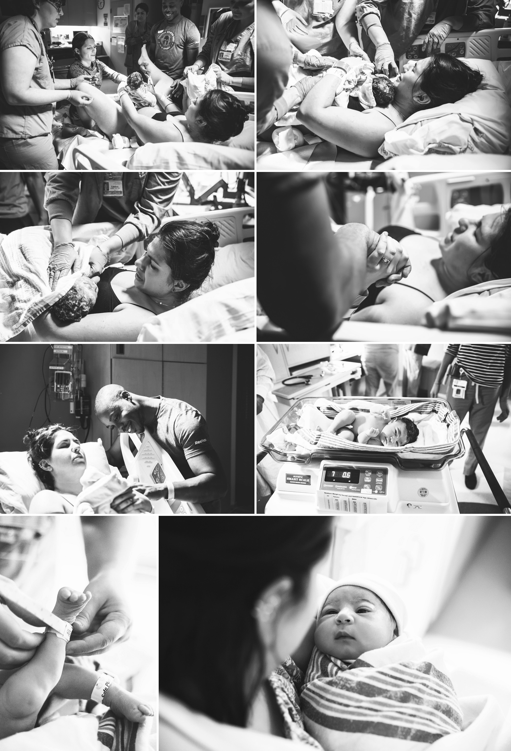 birth of a baby girl in a hospital