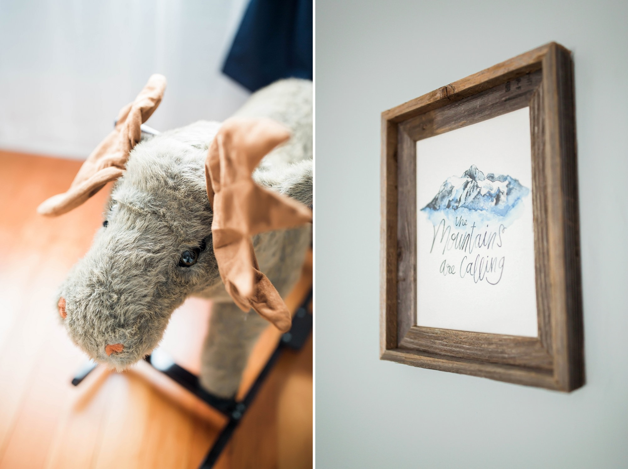 baby boy nursery outdoorsy decor