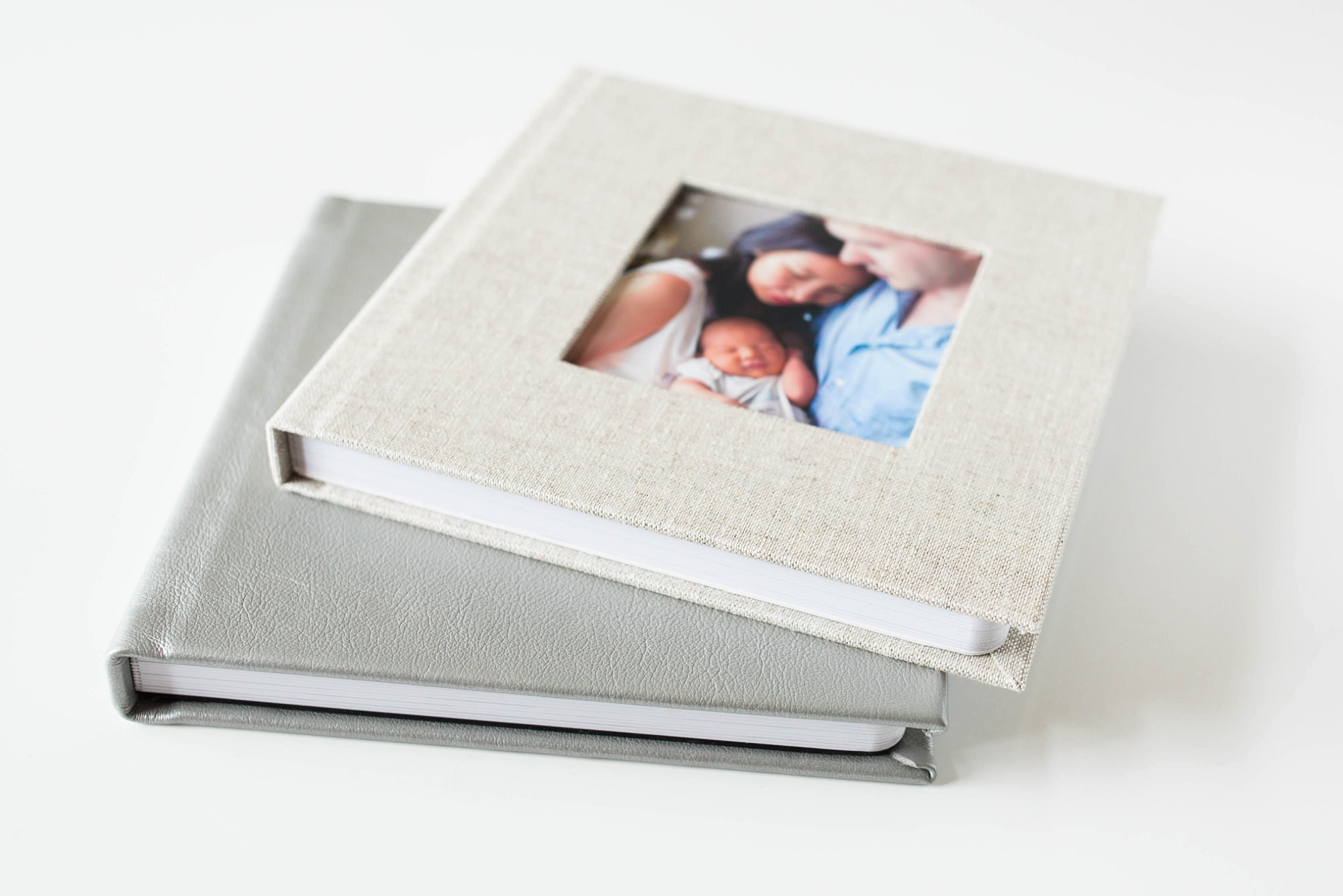 Newborn Baby Luxury Linen Album