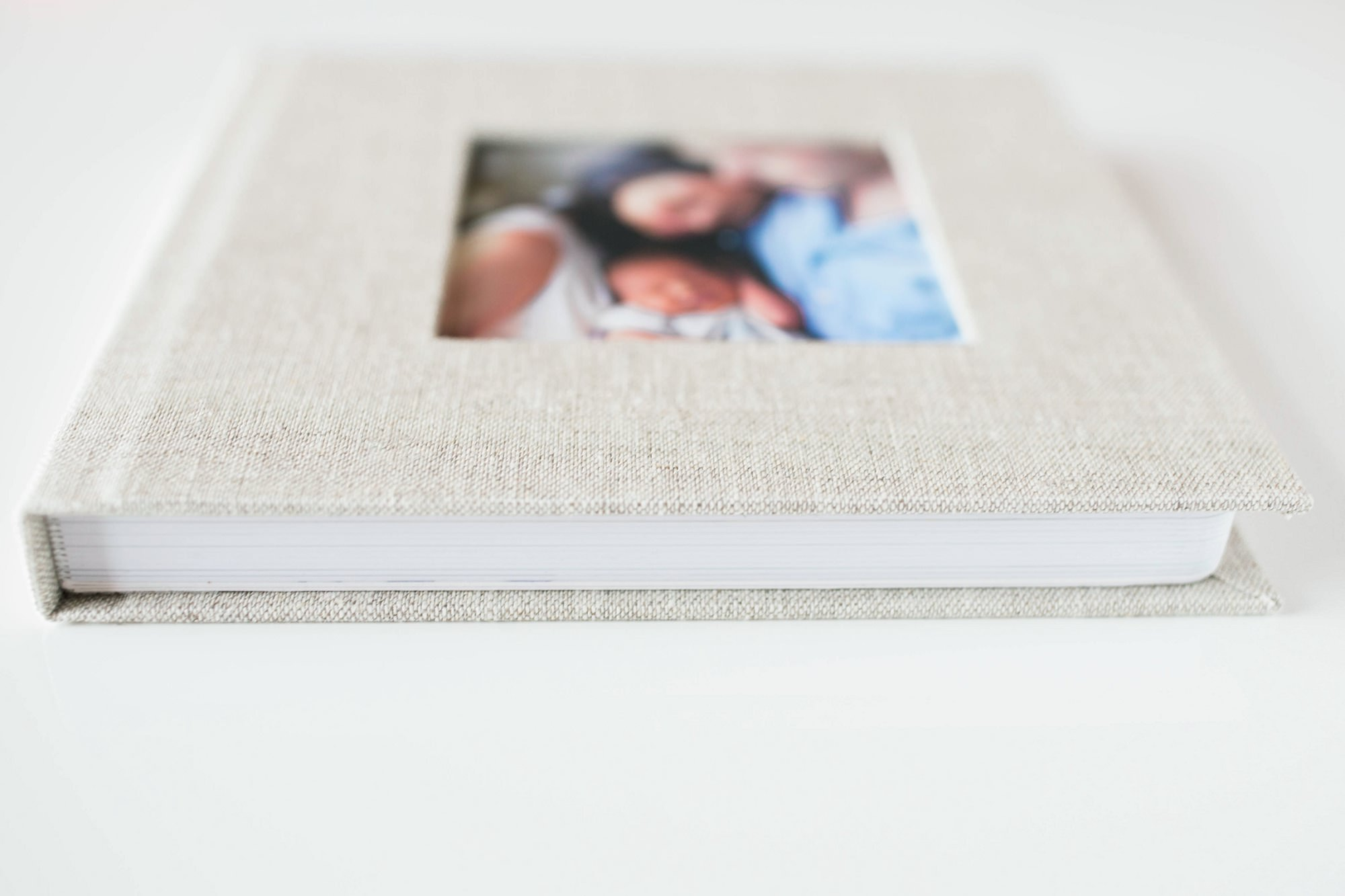 Linen Newborn Family Album