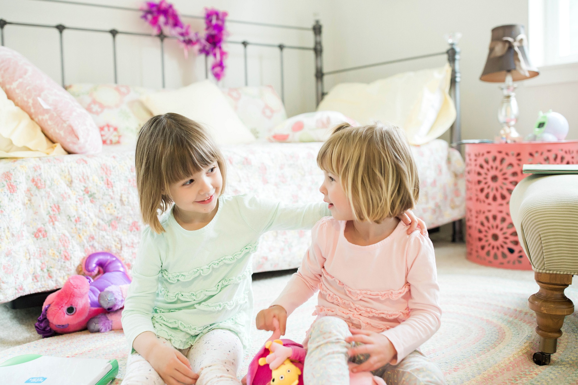 little girls playing in their room