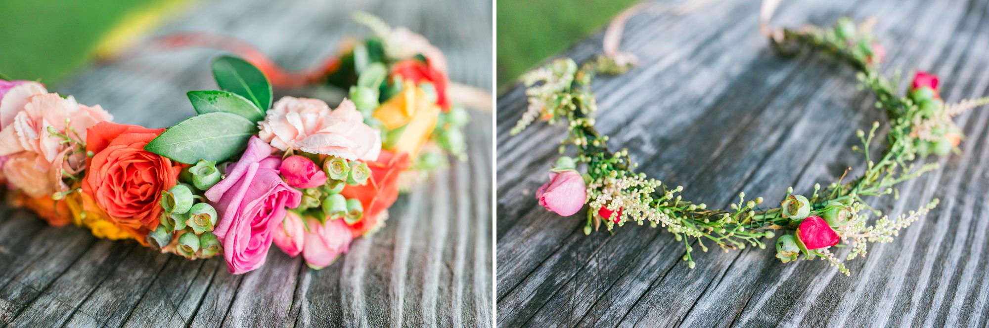 floral crown for a maternity session