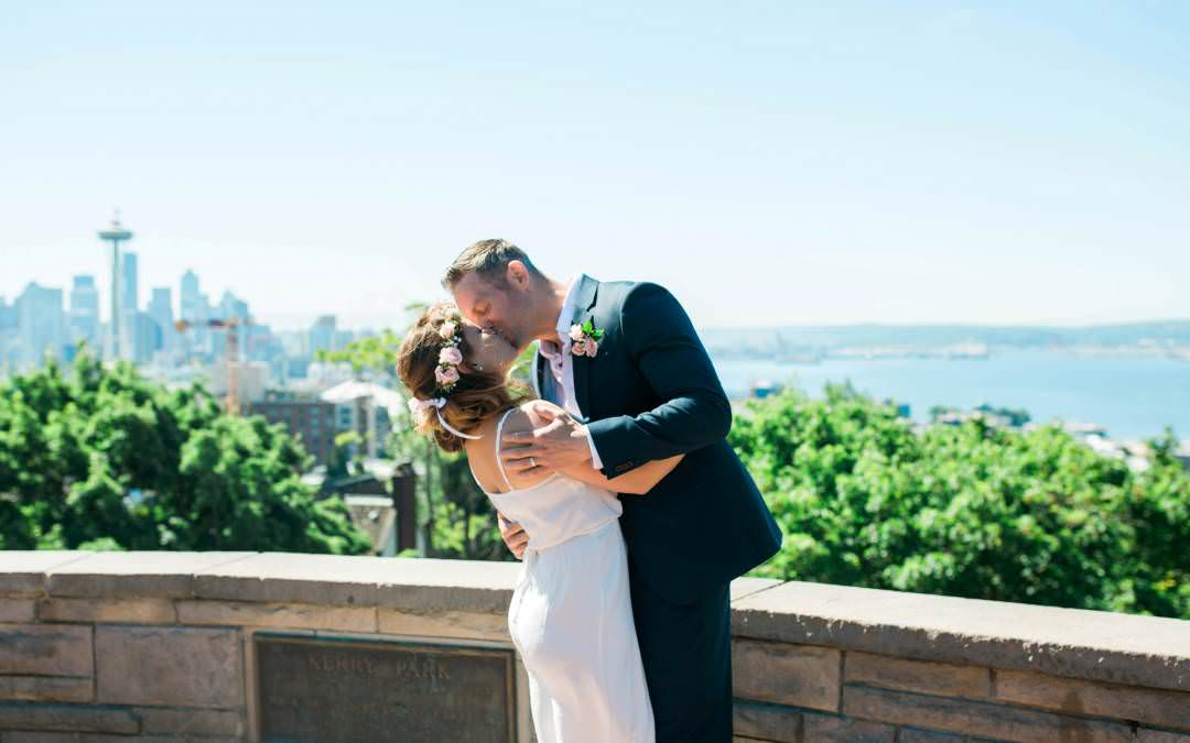 Theresa and Michael-Kerry Park Seattle Elopement