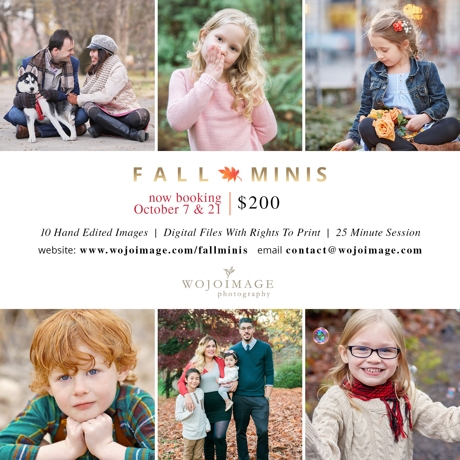Seattle Fall Mini Sessions Family Photography