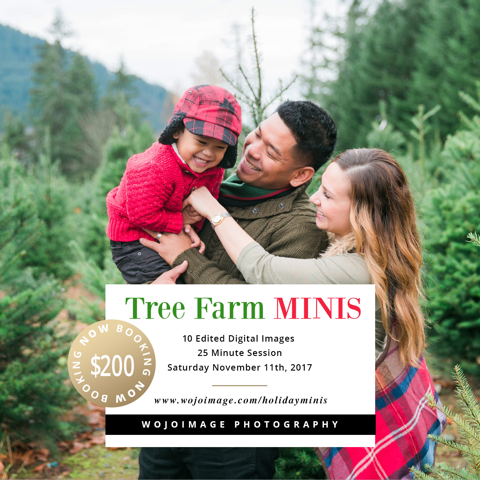 Tree Farm Family Mini Session's near Seattle