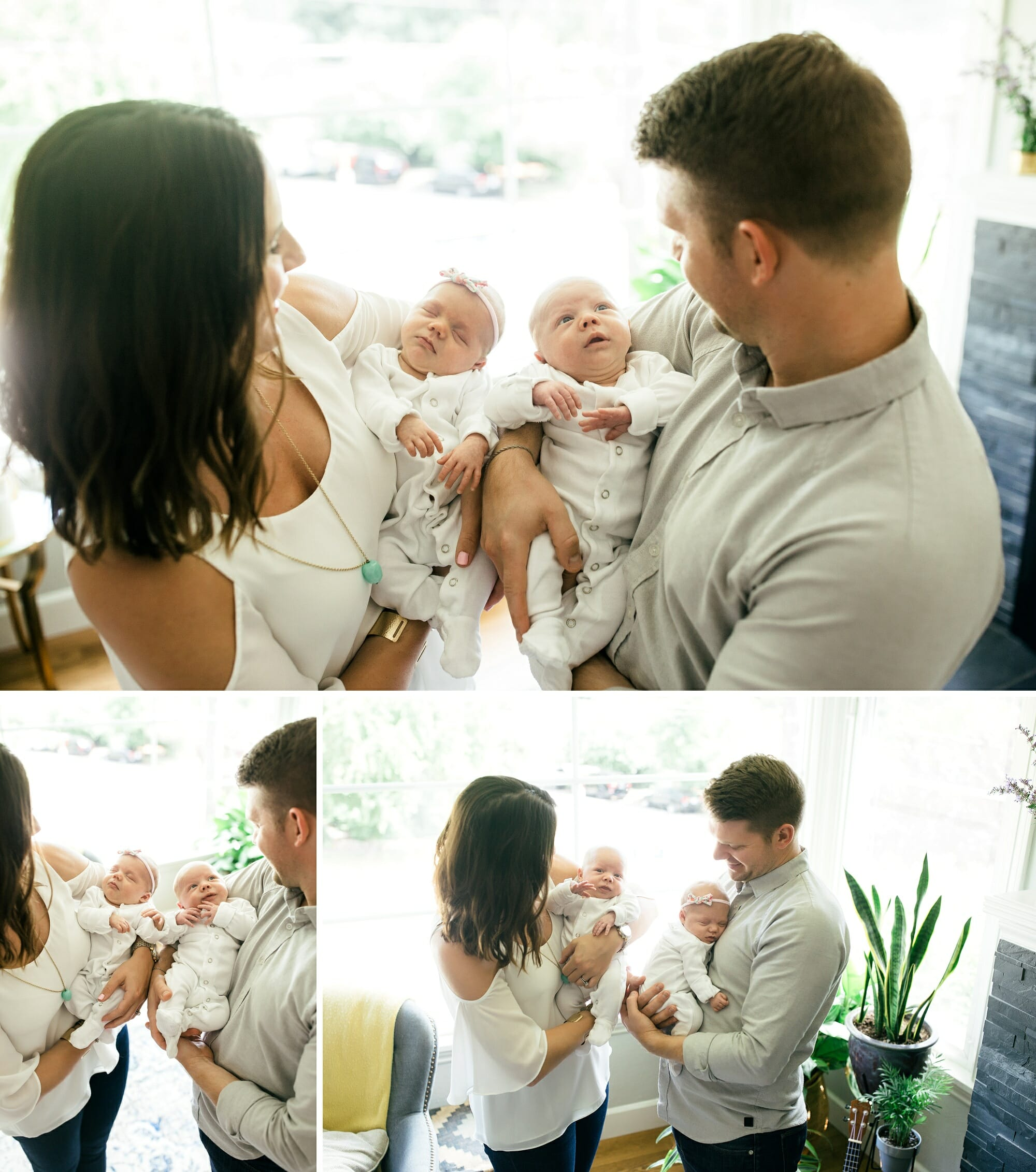 Chicago Twin Lifestyle Baby Newborn Session