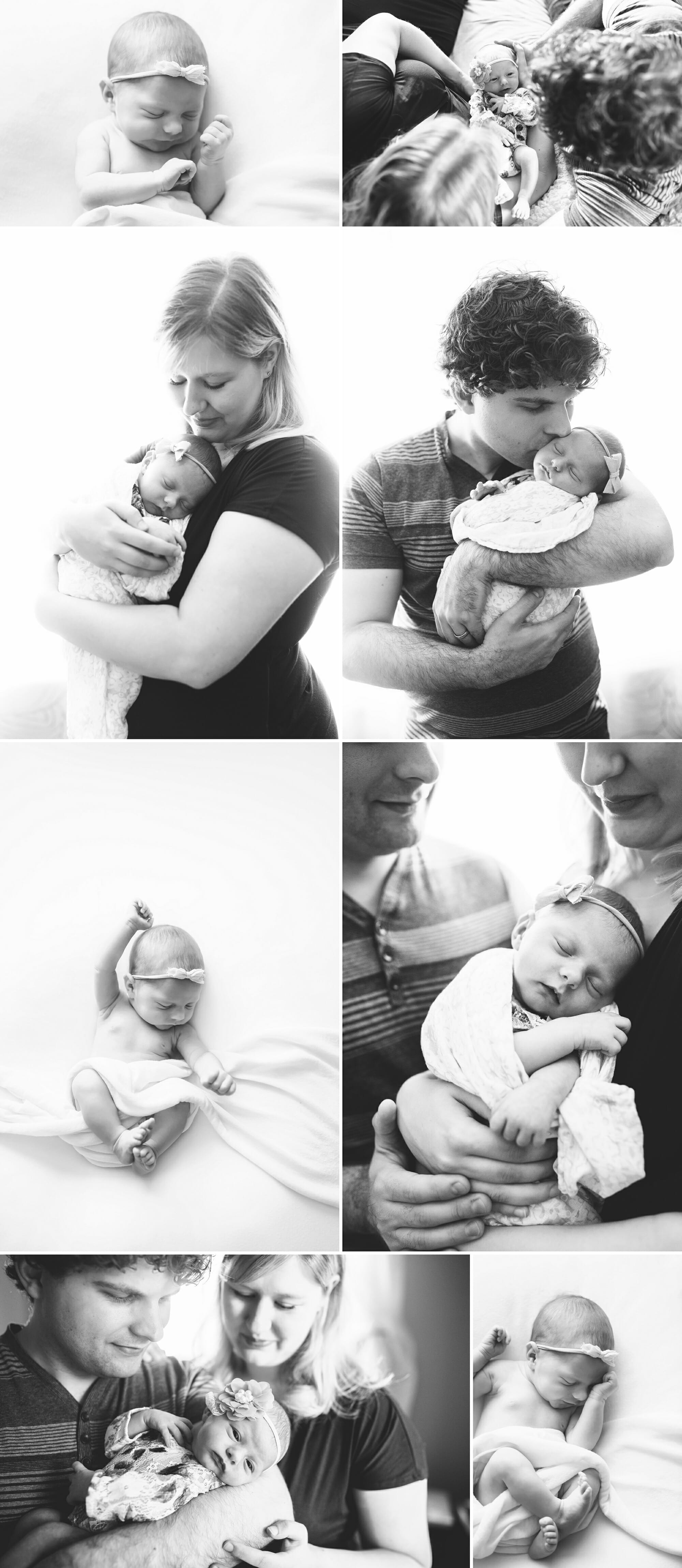Black and White In Home Newborn Session