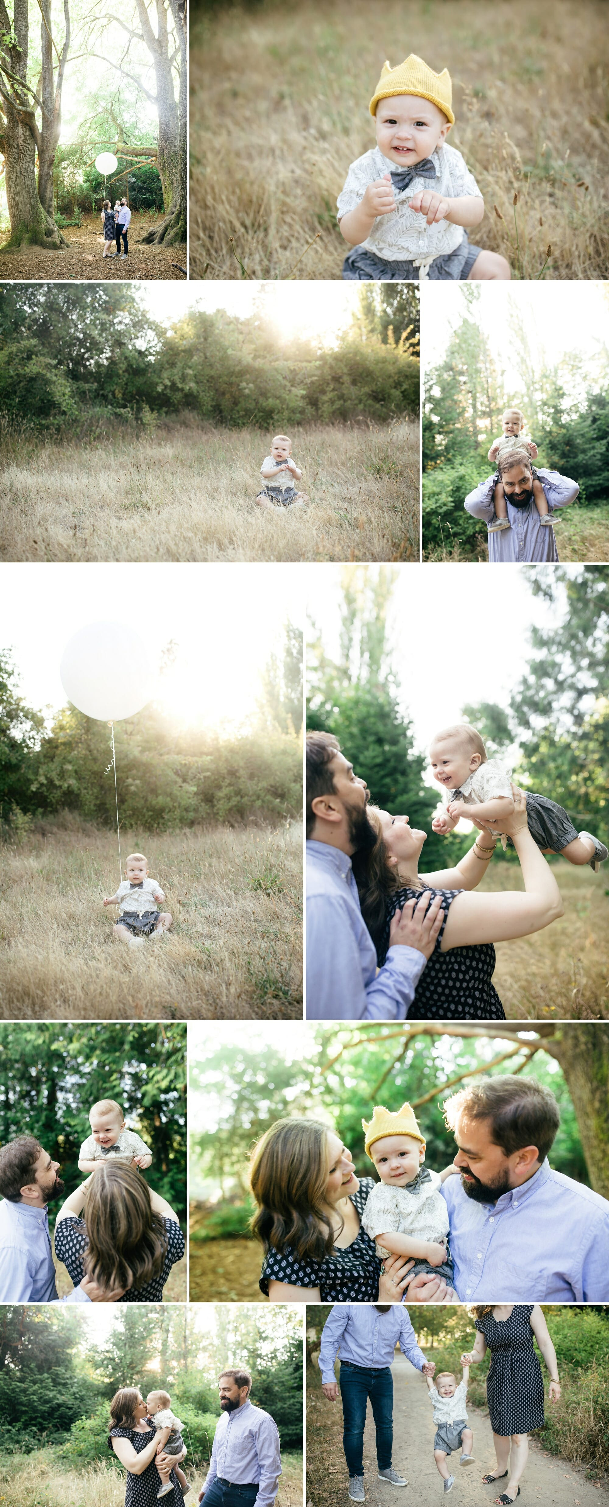 One Year Old Boy Outdoor Photo Session
