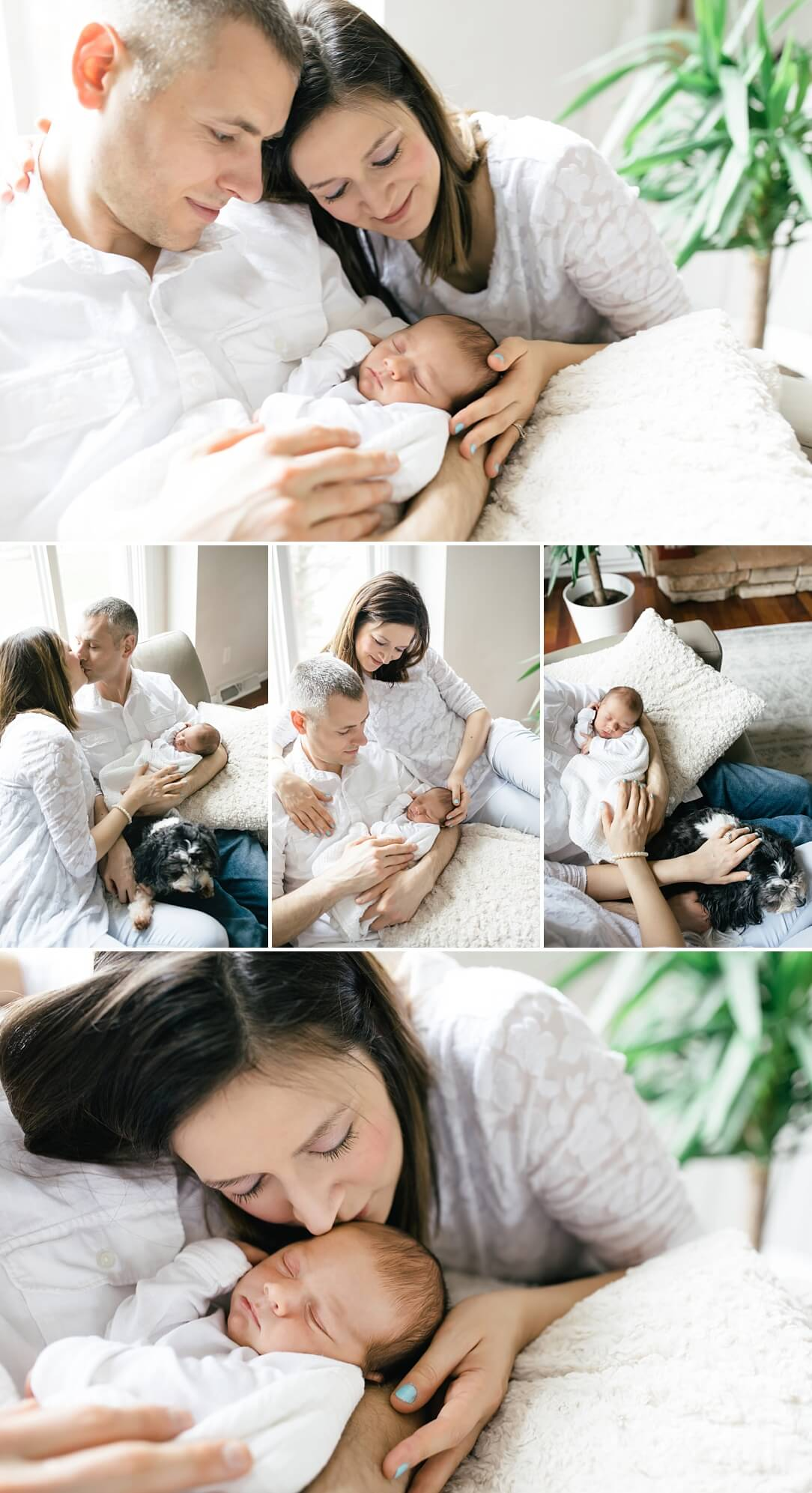 parents holing newborn baby