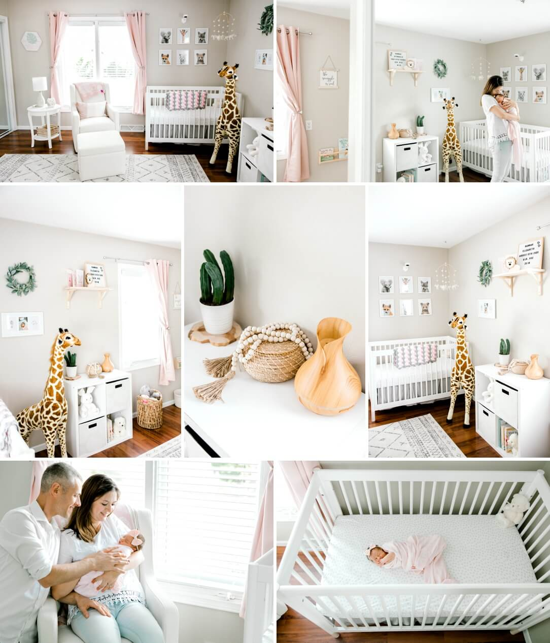 safari animals baby girl nursery decor